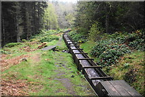 NU0702 : The beginning of the timber flume by Bill Boaden