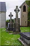 R2838 : Two Celtic cross tombs, churchyard of St. Molua's Church, Main Street, Ardagh, Co. Limerick by P L Chadwick