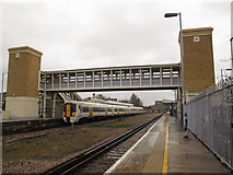 TR1458 : New footbridge at Canterbury West station by Stephen Craven