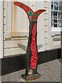 TR3571 : Millennium Milepost, Margate Pier by David Dixon