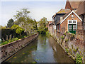 TR1457 : River Great Stour, Greyfriars Garden by David Dixon