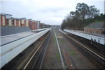 SX9193 : West of England Main Line, Exeter Central Station by N Chadwick