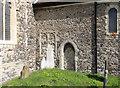 TQ7469 : All Saints, Frindsbury - Church wall by John Salmon