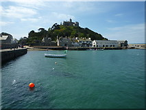 SW5130 : Quay, slipway and cottages, St. Michael's Mount harbour by Maurice D Budden