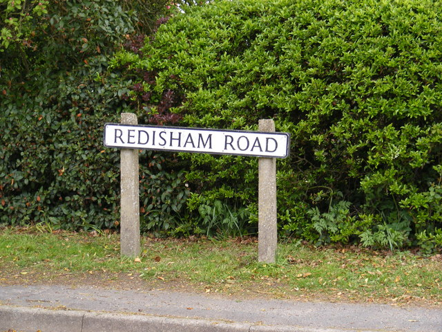 Redisham Road sign