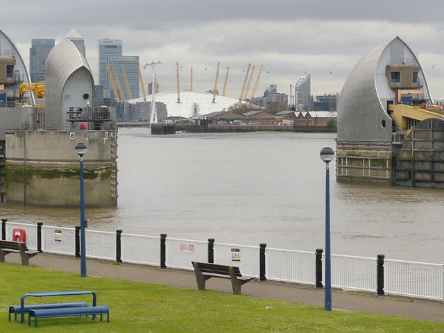 Thames Barrier and Millennium Dome