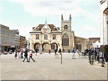TL1998 : Cathedral Square, Peterborough, Cambridgeshire by Derek Voller