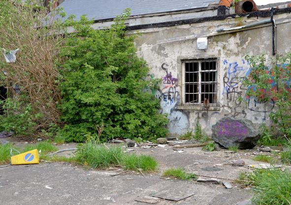 Derelict building and yard, Bangor