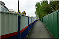 SK5438 : Temporary footpath by David Lally