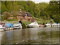 TQ7457 : River Medway, Allington Pumping Station by David Dixon