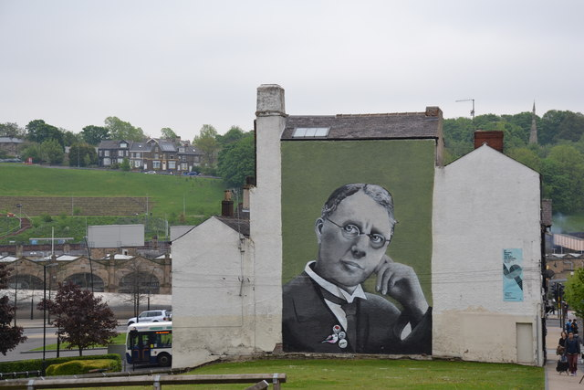 Mural, picture of Harry Brearley