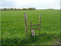 SE0721 : Stile on the north branch of Elland Footpath 41 by Humphrey Bolton