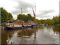 TQ7558 : Sailing Barges, River Medway by David Dixon