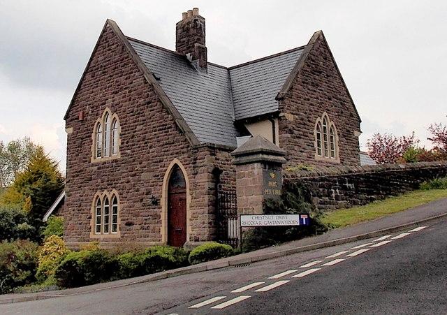 Former hospital lodge on the east side of Chestnut Drive, Abergavenny