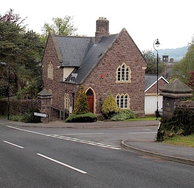 Former hospital lodge on the west side of Chestnut Drive, Abergavenny