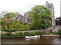 TQ7555 : River Medway, All Saints' Church by David Dixon