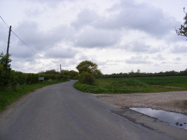 Entering Ilketshall St.Andrew on School Road