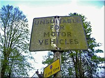 SU9948 : Pre-Worboys sign, St Katharine's Hill by David Howard