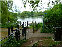 TQ0481 : Little Britain Lake seen from footbridge by Shazz