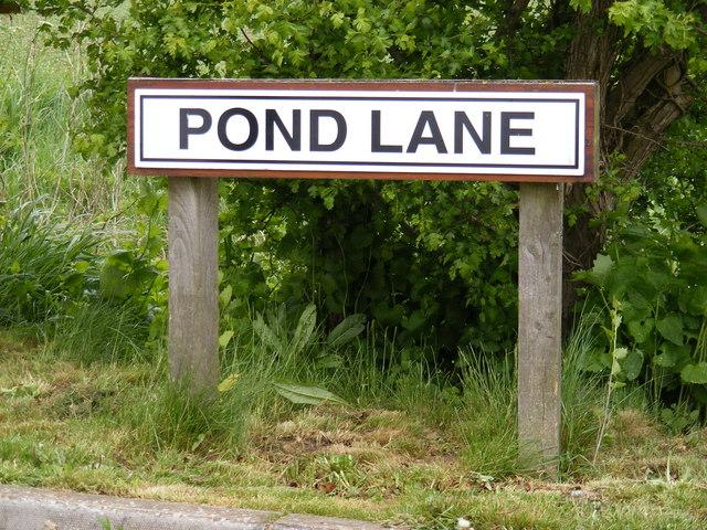 Pond Lane sign