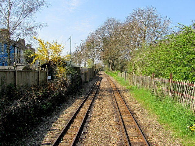 The Light Railway leaving Hythe