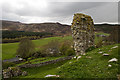 NT9304 : Harbottle Castle (2) by Mike Searle