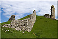NT9304 : Harbottle Castle (3) by Mike Searle