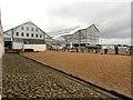 TQ7669 : Covered Slips, Chatham Docks by David Dixon
