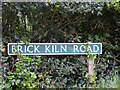 TG1921 : Brick Kiln Road sign by Adrian Cable