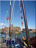 NT6779 : Coastal East Lothian : Maypole Dancing at Victoria Harbour, Dunbar by Richard West