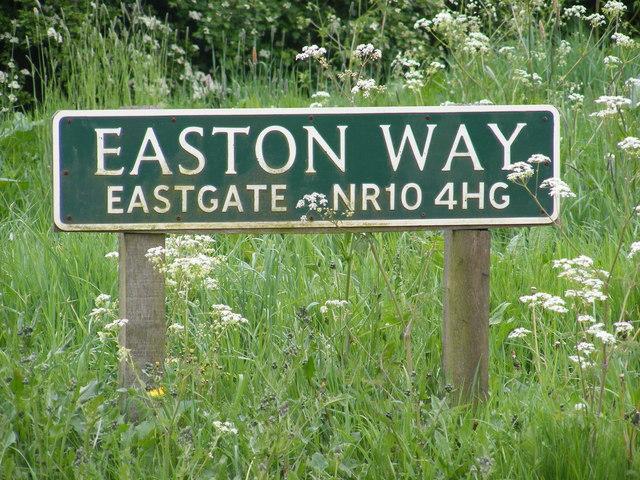 Easton Way sign