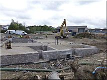 H4573 : Construction site, Omagh by Kenneth  Allen