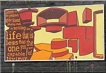 SJ8993 : Reddish South Mural (Panel 1 of 5) by Gerald England