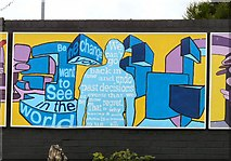 SJ8993 : Reddish South Mural (Panel 4 of 5) by Gerald England