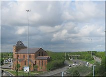 NZ4920 : The A66 passing through central Middlesbrough by peter robinson
