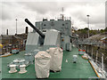 TQ7569 : HMS Cavalier, Rear Gun, Chatham Docks by David Dixon