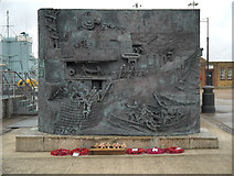 TQ7569 : National Destroyer Memorial 1939-45 (front), Chatham Dockyard by David Dixon
