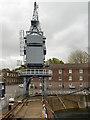 TQ7569 : Chatham Historic Dockyard, Crane by David Dixon