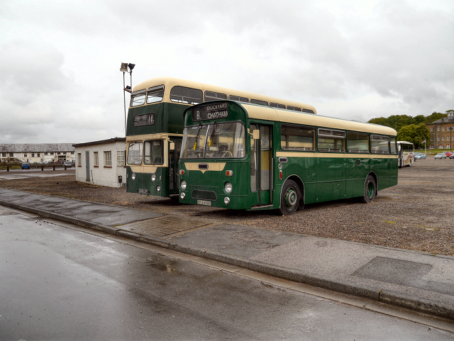 Preserved Buses at Chatham Dockyard