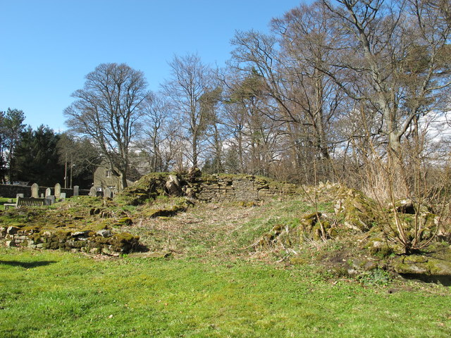 (Remains of) pele tower in the grounds of St. James's Church, Hunstanworth (2)