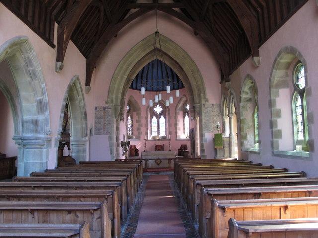 St. James's Church, Hunstanworth - nave