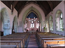 NY9449 : St. James's Church, Hunstanworth - nave by Mike Quinn