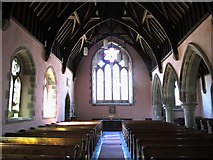 NY9449 : St. James's Church, Hunstanworth - nave (2) by Mike Quinn