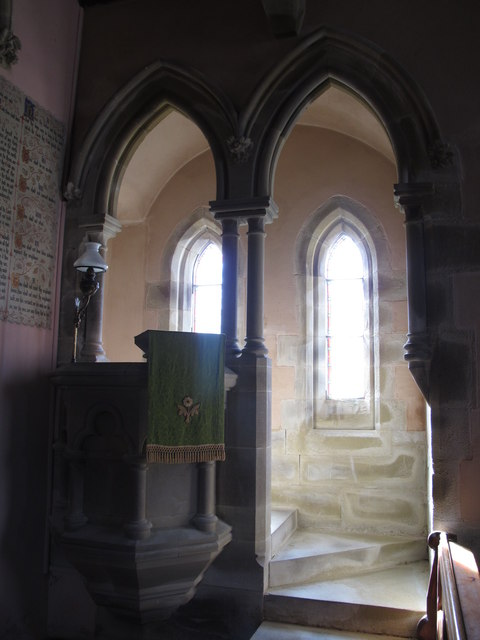 St. James's Church, Hunstanworth - pulpit