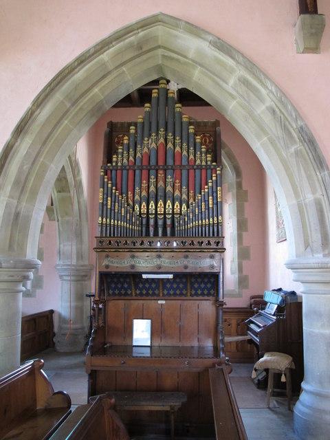 St. James's Church, Hunstanworth - organ