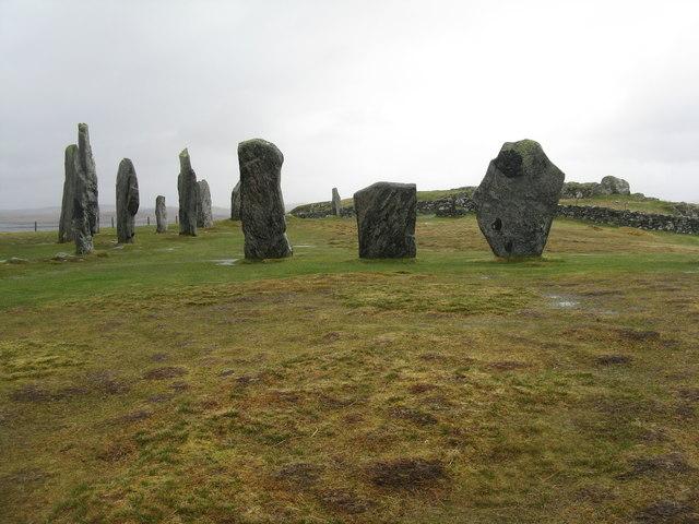 Calanais standing stones and circle