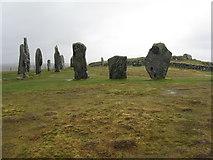 NB2133 : Calanais standing stones and circle by M J Richardson