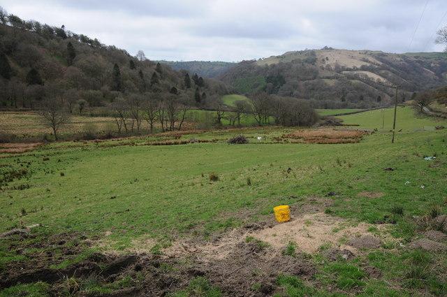 Farmland below Blaen-y-cwm