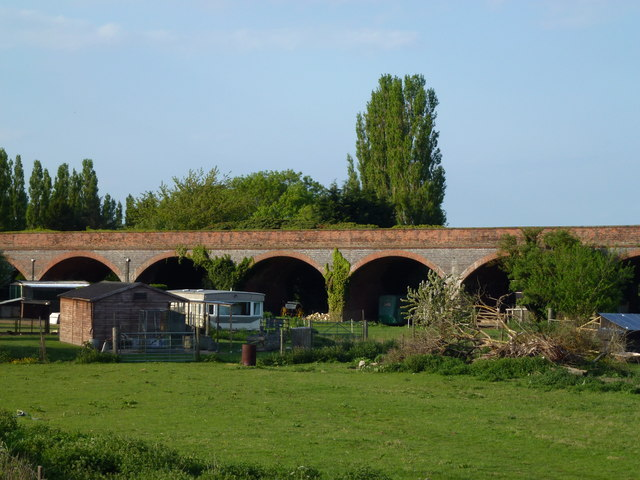 Former railway viaduct at Rings End, Cambridgeshire