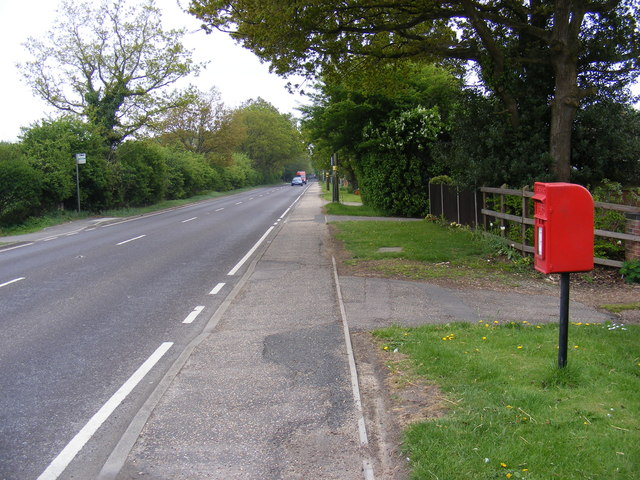 A140 Cromer Road, Hainford & Cromer Road Postbox